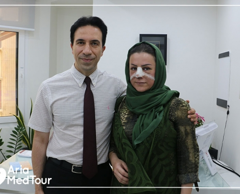 iraqi patient with rhinoplasty surgeon in Iran