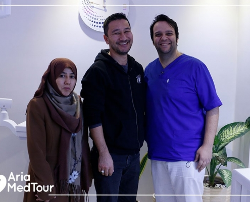 Australian patients with their dentist in Iran