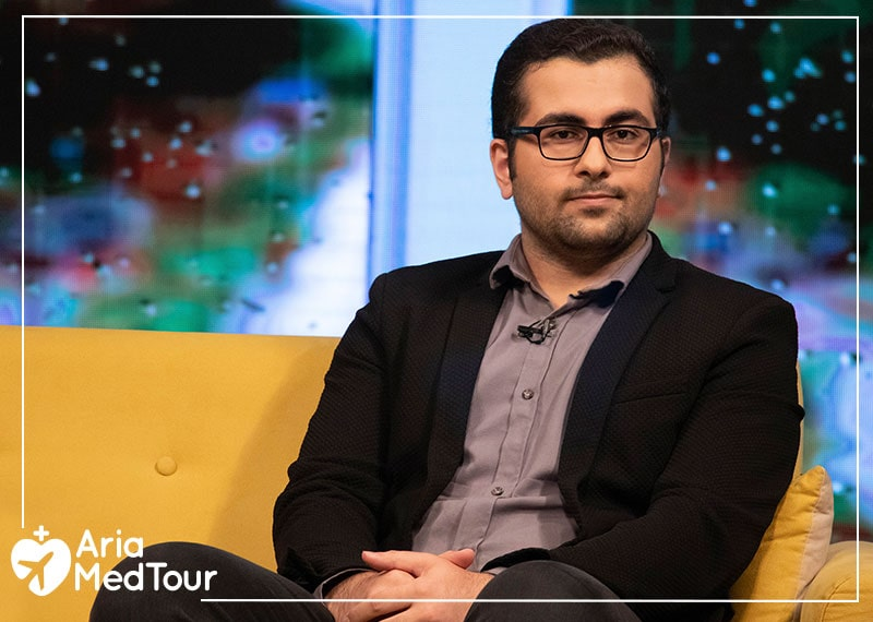 """Reza Rastgar as a guest of Iranian television show called """"Ma Iraniha"""""""