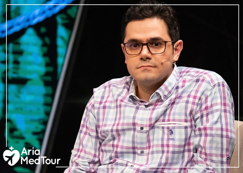 """Mohammad Nasri, CEO of AriaMedTour, as a guest of Iranian television show called """"Ma Iraniha"""""""