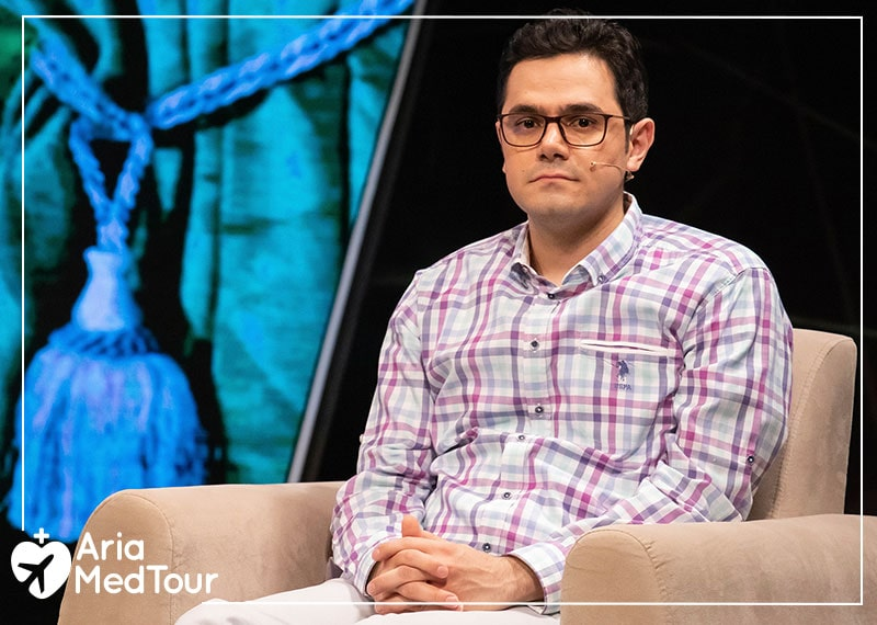 Mohammad Nasri, CEO of AriaMedTour, as a guest of Iranian television show called