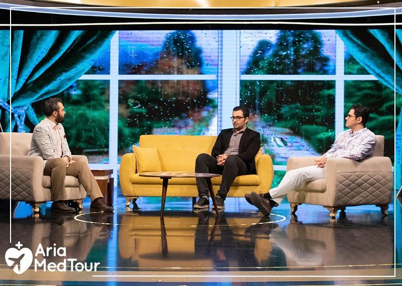AriaMedTour team, Mohammad Nasri and Reza Rastgar on Iranian Tv show