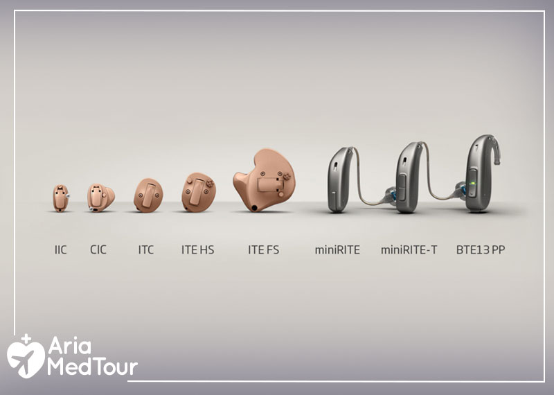 different types and styles of hearing aids
