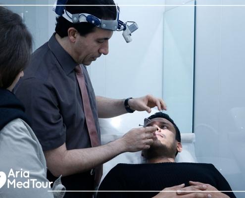 pre-op examination before rhinoplasty in Iran