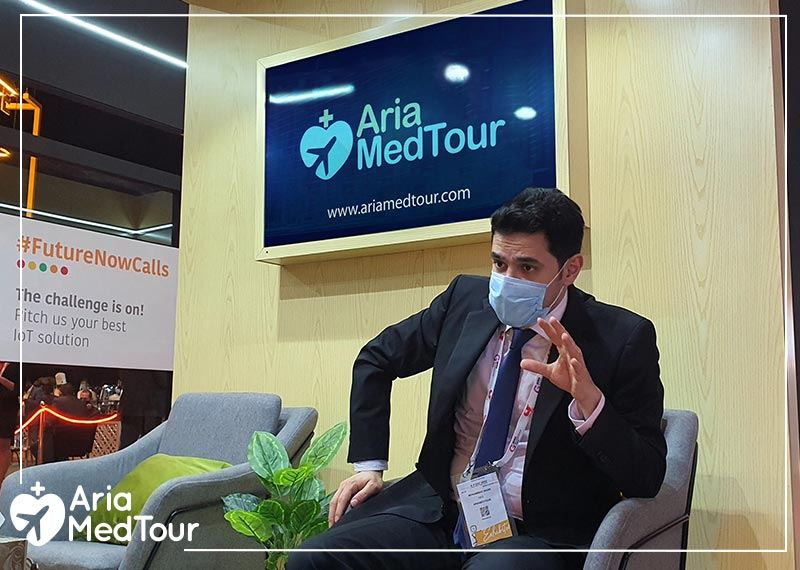 Mohammad Nasri, CEO of AriaMedTour, at the 40th GITEX 2020 Dubai Exhibition