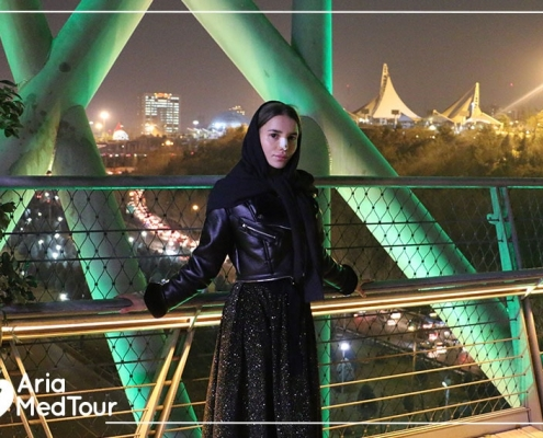 sight seeing after nose job in Iran