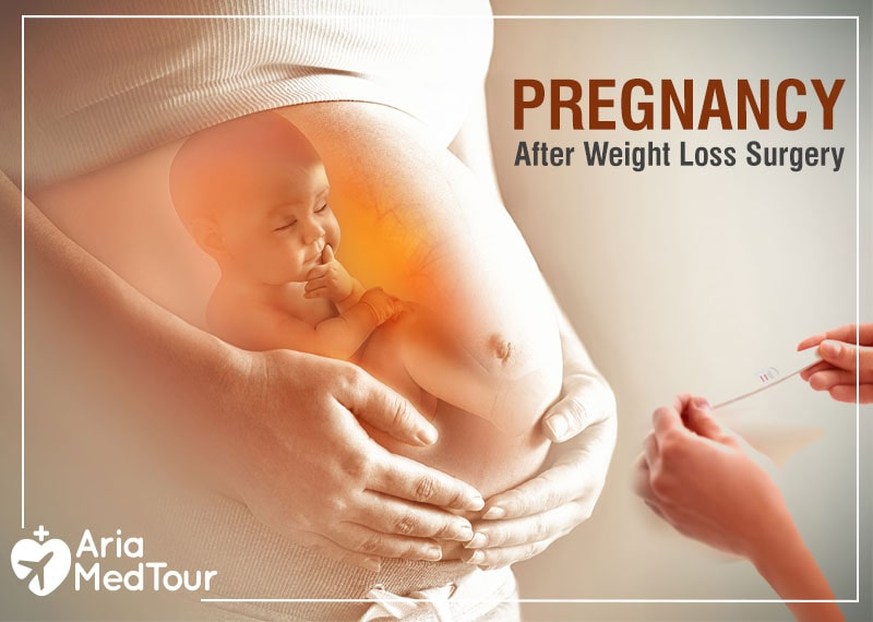 a pregnant woman stomach after weight loss surgery