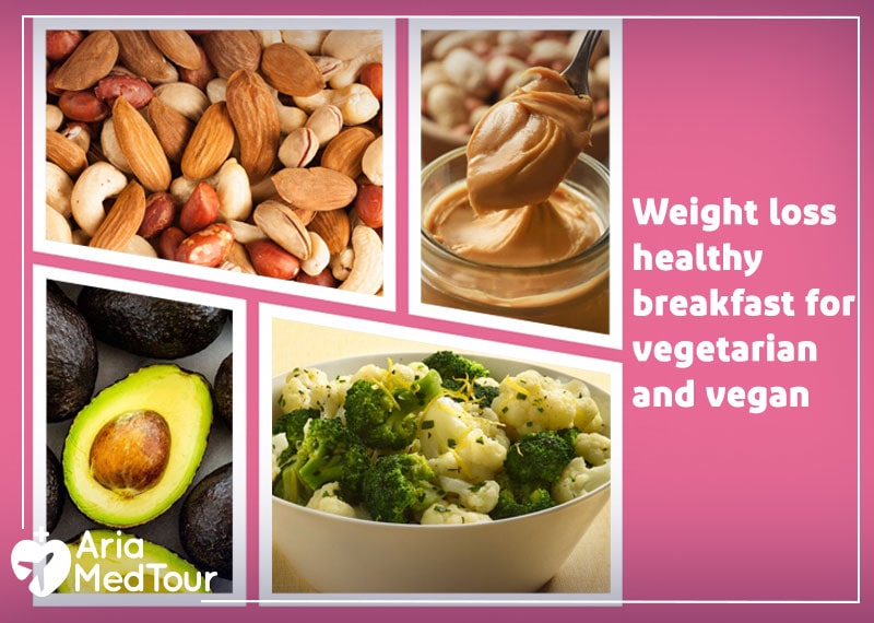 an infographic showing the best weight loss healthy breakfast foods for vegetarian and vegan
