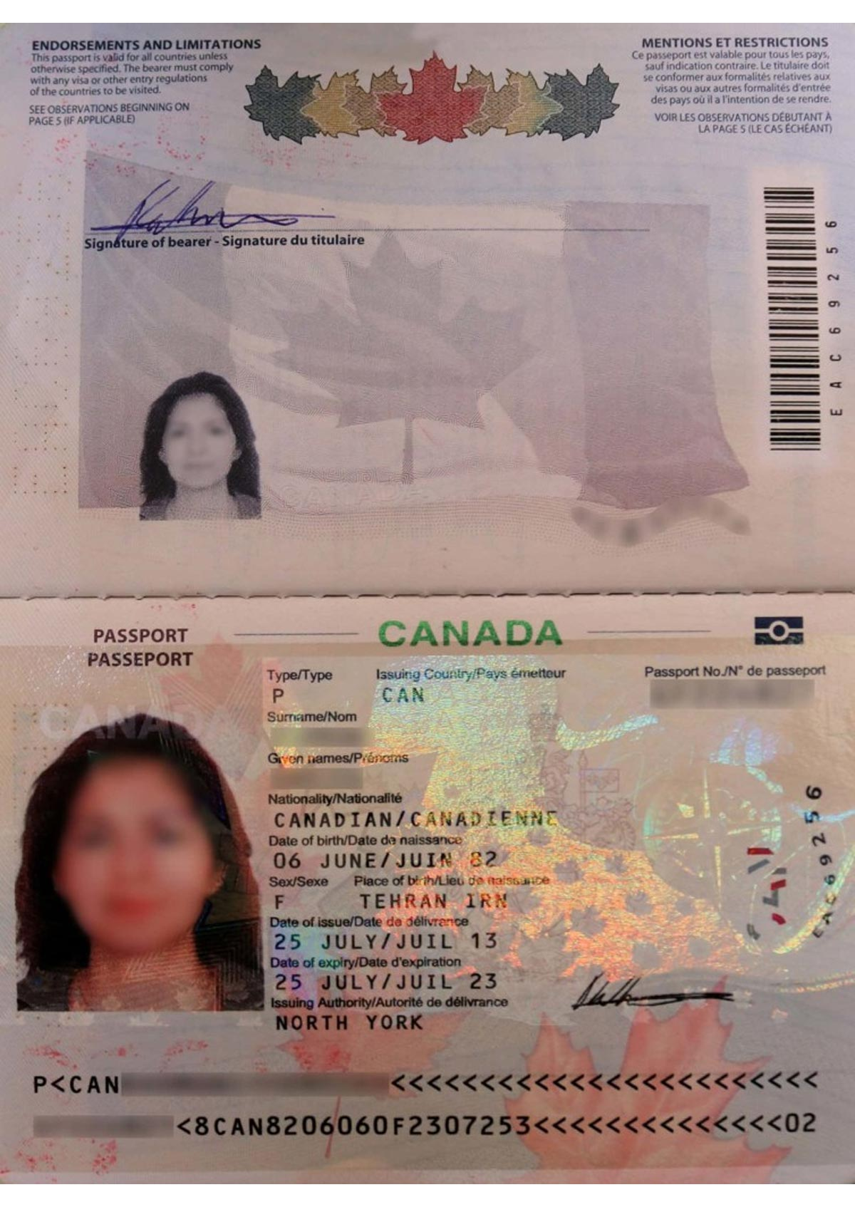 The wrong and right formats of passport photo for applying visa