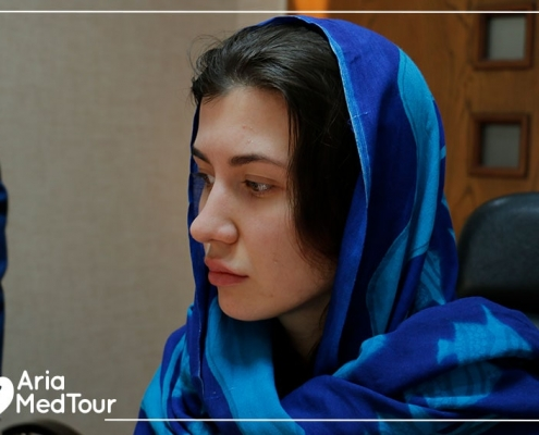 Ariamedtour's Russian guest in Iran for revision nose job