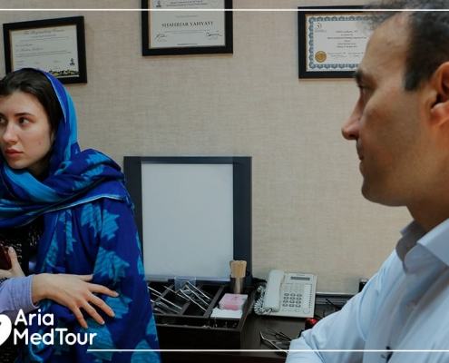 Ariamedtour's Russian guest in Iran for revision nose job with her surgeon